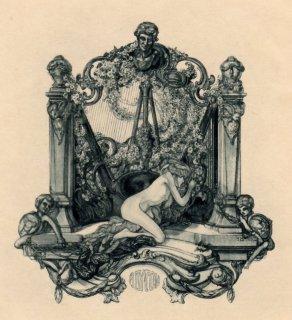 フランツ・フォン・バイロス蔵書票 Adyton (the artist's own bookplate) (2)