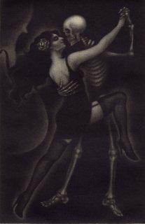 小池結衣 銅版画 『死の抱擁/El abrazo de morir』