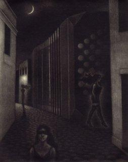 小池結衣 銅版画『マリアの影/La sombra de Maria』サイン入り