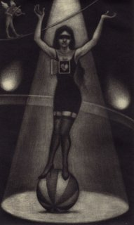 小池結衣 銅版画『精神分析サーカス/El circo de los psicoanalistas』サイン入り