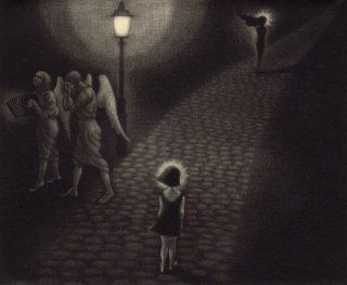 小池結衣 銅版画『マリアから生まれたのはマリア/La Niña tuvo otra niña』サイン入り