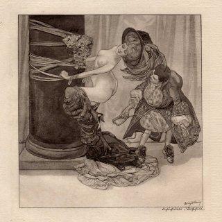 バイロス  創作版画集 マダムC.C. (全作品30点 34×28cm   ED 48/300   1912年制作  紙箱入)
