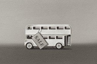 豊田 泰弘 油彩画『ブリキのバス』