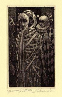 坂東壯一 銅版画 『THE MASQUE OF THE RED DEATH』サイン入り
