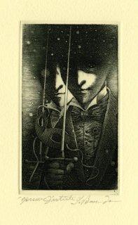 坂東壯一 銅版画 『WILLIAM WILSON』サイン入り