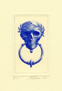 坂東壯一 銅版画 『死の扉』サイン入り