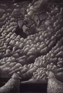 久保 貴之  銅版画作品 『雲』サイン入り