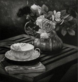 庄 漫 銅版画「afternoon tea」*シート