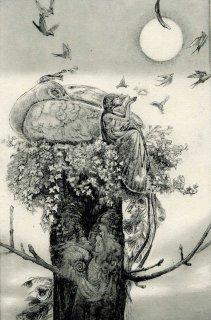 佐藤妙子 銅版画「harvest moon」*シート