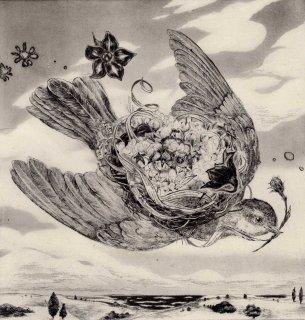 佐藤妙子 銅版画「嬉しい知らせ」*シート