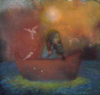 林 千絵  作品「月明かりのロンド」*額装品