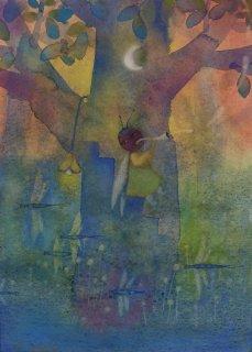 林 千絵  作品「七色の夏」*額装品