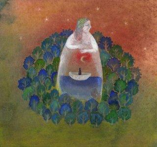 林 千絵  作品「銀の舟」*額装品
