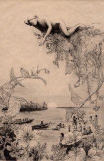 重藤 裕子 銅版画「甘い水」*シート