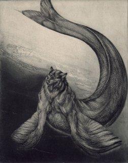 西村 沙由里 銅版画「シ−ウルフの翼」*シート