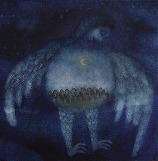 林 千絵  作品「夜の天使」*額装品