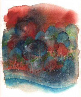 林 千絵  作品「風の谷」*額装品