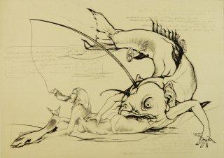 多賀 新 銅版画作品 魚シリーズ No.7 「餌食�」*シート