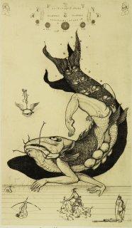 多賀 新 銅版画作品 魚シリーズ No.10「鯱立」*シート