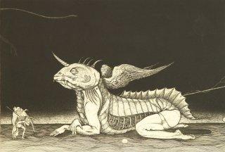 多賀 新 銅版画作品 魚シリーズ No.13「スフィンクス」*シート