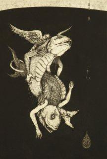多賀 新 銅版画作品 魚シリーズ No.12「潑溂」*シート