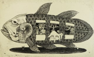 多賀 新 銅版画作品 魚シリーズ No.17「シーラカンス」*シート