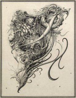 謝敷ゆうり 銅版画「スフィア」*シート