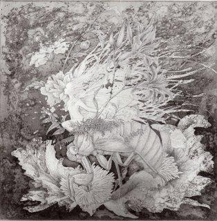 長野 順子 銅版画「土の声」*シート