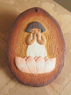 可南 つちびと(陶板) Pray board「無垢」
