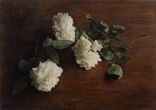 豊永 侑希 作品「白薔薇」*額装品