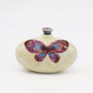 大亦みゆき 陶作品「蝶の小瓶」(割引対象外)