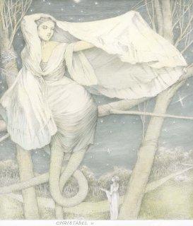 アルフォンス・イノウエ 限定制作ジクレー版画「クリスタベル(26)Christabel」*額装品