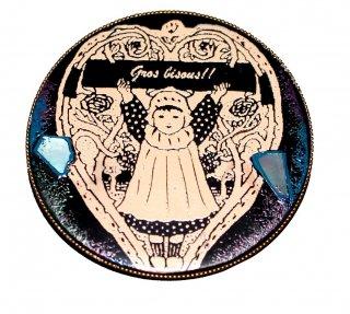 伊藤尚子   漆アクセサリー(ブローチ・ペンダント用金具付)『上機嫌の欠片達 K』