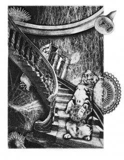 伊藤尚子  版画作品(銅版画)『私がキルケニー猫だった時に』シート