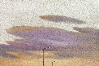 豊田 泰弘 油彩画『街灯』