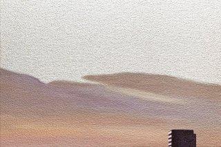 豊田 泰弘 油彩画『ビル』
