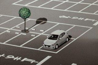 豊田 泰弘 油彩画『駐車場』