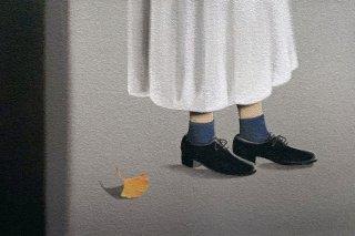 豊田 泰弘 油彩画『イチョウの葉』