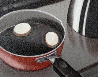 豊田 泰弘 油彩画『ゆで卵』