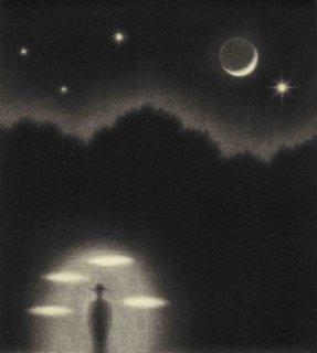 小池結衣 銅版画『夜のかたすみ』*シート