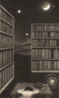 小池結衣 銅版画『図書室』*シート