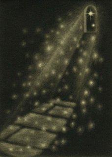 小池結衣 銅版画『降る』*シート