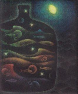 小池結衣 銅版画『真夜中の瓶』*シート