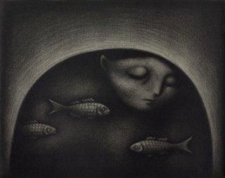 小池結衣 銅版画『静かな夜に』*シート