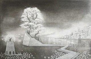 長野 順子 銅版画「澪標」*シート