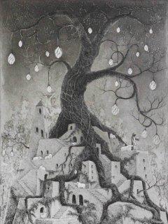 長野 順子 銅版画「夢幻夜話」*シート