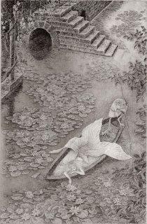 長野 順子 銅版画「まどろみの舟」*シート