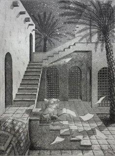 長野 順子 銅版画「同じ月の下」*シート