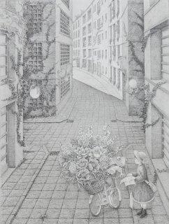 長野 順子 銅版画「逢魔が辻」*シート
