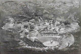 長野 順子 銅版画「幻想都市綺譚」*シート